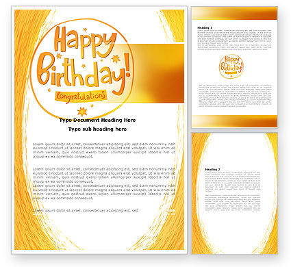 happy birthday card templates word, Birthday card