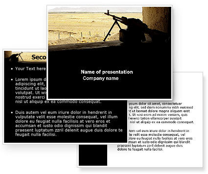 Machine Gun PowerPoint Template #07308