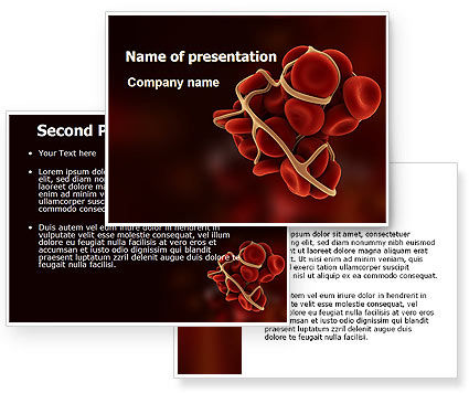 blood ppt templates free download - blood thrombus powerpoint template