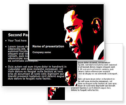 Barack Obama PowerPoint Template #07556