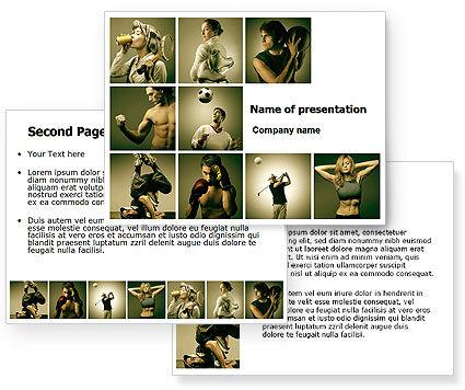 Sport Activities PowerPoint Template #07597
