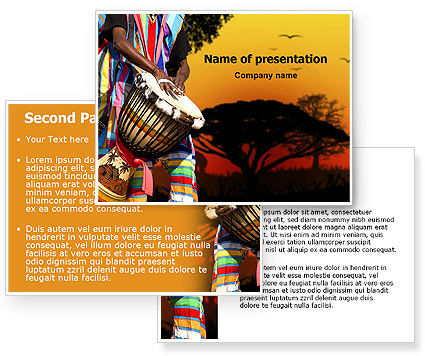 african backgrounds for powerpoint, Powerpoint