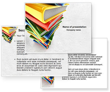of books powerpoint template 3 backgrounds