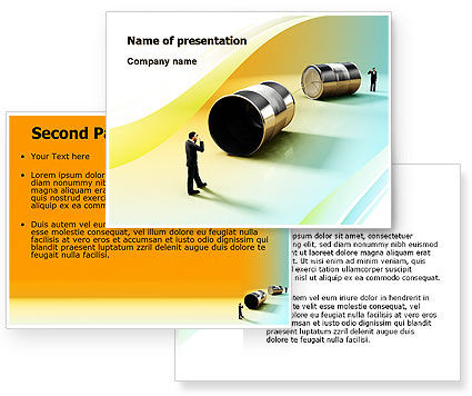 Communication Devices PowerPoint Template #07878