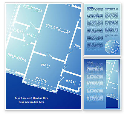 Room layout planning word template 08106 Room design template