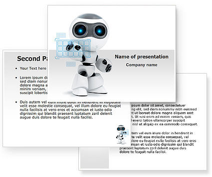 Robot writing template robot model powerpoint template poweredtemplate 08181 3 toneelgroepblik Images