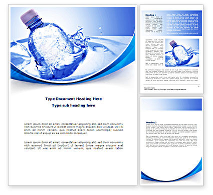 Plastic Bottle Word Template #08237