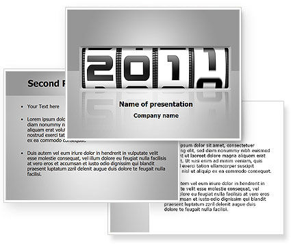 2011 Timer PowerPoint Template #08306
