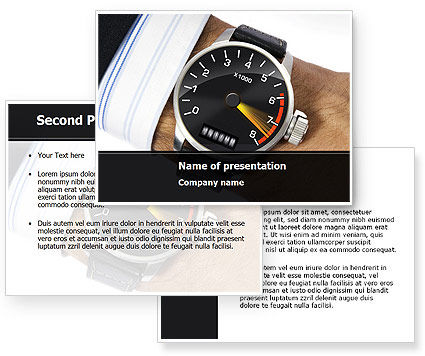 Clock Timer PowerPoint Template #08329