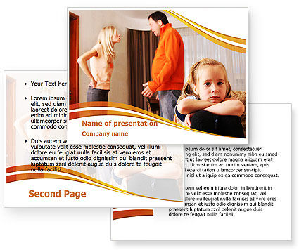 Family Quarrel PowerPoint Template #08394