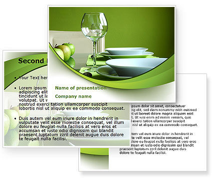 Table setting powerpoint template poweredtemplatecom for How to set up a powerpoint template