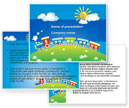 jolly train ride powerpoint template poweredtemplatecom