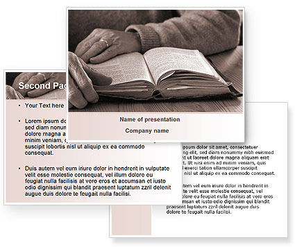 Bible Study PowerPoint Template #08611