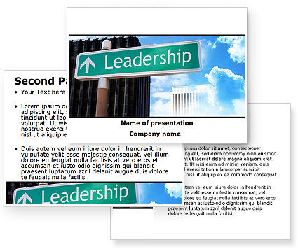 Leadership training powerpoint template 08714