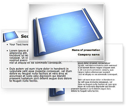 Blueprint PowerPoint Template #08733