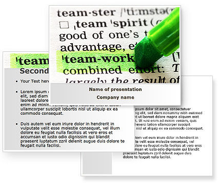 Teamwork Training Principles PowerPoint Template #09094