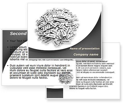 Linguistics PowerPoint Template #09262