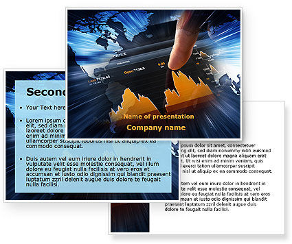 stock market ppt templates free download - stock market rates analysis powerpoint template