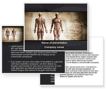 anatomy ppt templates free download - male body anatomy powerpoint template poweredtemplate