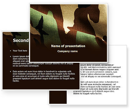 Woodland Camouflage PowerPoint Template #09675