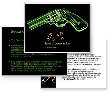 Inside The Revolver PowerPoint Template #09922