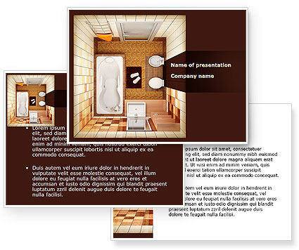 Plan of bathroom powerpoint template for Bathroom templates for planning