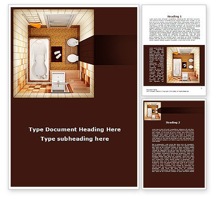 Plan of bathroom word template 10038 for Bathroom templates for planning