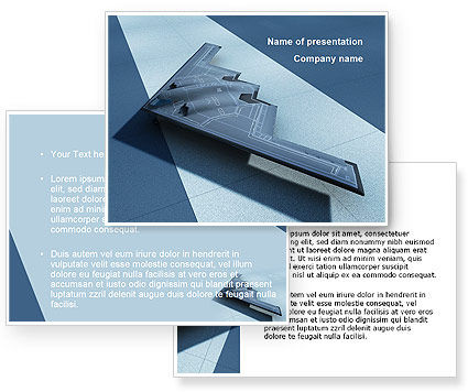 Northrop Grumman B-2 Spirit PowerPoint Template #10067
