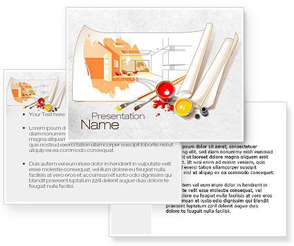Interior Design Sketch Powerpoint Template 10092 3 Backgrounds 3