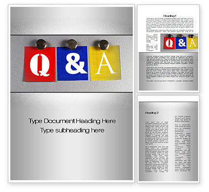 Questions and Answers Word Template #10131