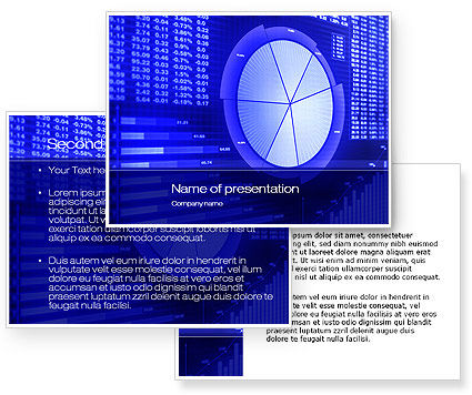 Stock market pie chart powerpoint template for Stock market ppt templates free download