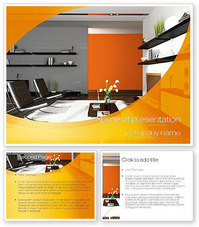 Home interior design powerpoint template backgrounds for Interior design layout templates free