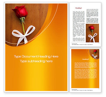 Romantic Word Template #10603