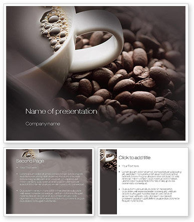 coffee beans powerpoint template 3 backgrounds 3 masters 20 slides. Black Bedroom Furniture Sets. Home Design Ideas