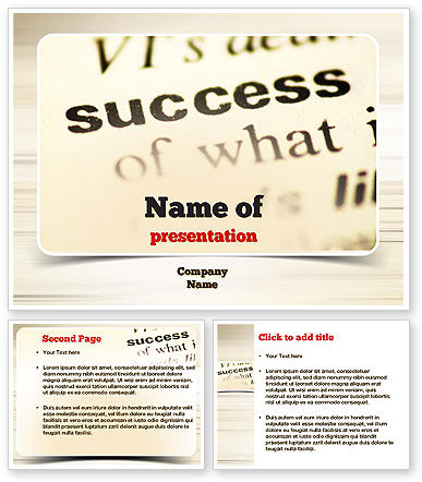 define template in powerpoint - definition of success powerpoint template