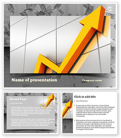 stock market ppt templates free download - stock market arrow powerpoint template poweredtemplate