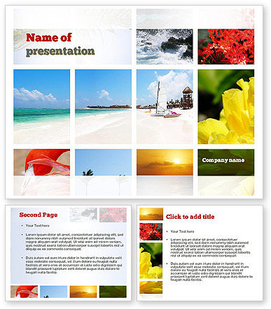 resort collage powerpoint template 3 backgrounds 3 masters 20 slides. Black Bedroom Furniture Sets. Home Design Ideas