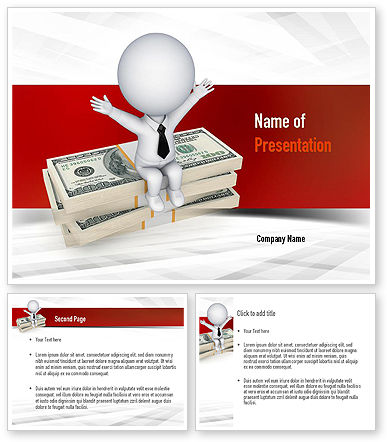sitting on dollar packs powerpoint template