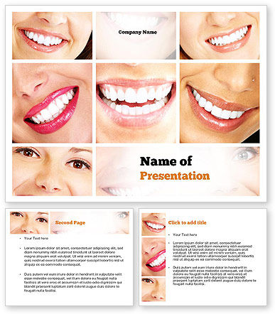Dental Smile PowerPoint Template #11003