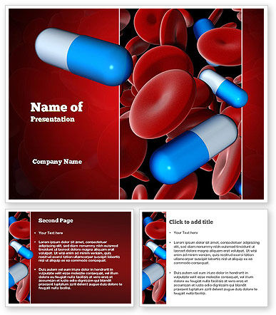 Medicine in blood powerpoint template poweredtemplate for Blood ppt templates free download