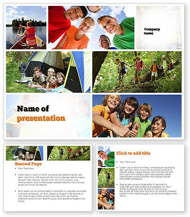 summer camp fun powerpoint template poweredtemplatecom