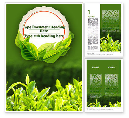 Young Tea Leaves Word Template 11382 Poweredtemplate Com