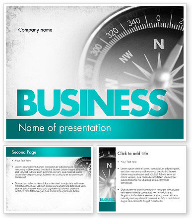 Business Navigation Concept PowerPoint Template #11563