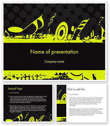 music themed powerpoint templates - music theme powerpoint template 3