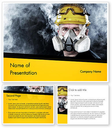 respiratory protection powerpoint template 3 backgrounds 3 masters 20. Black Bedroom Furniture Sets. Home Design Ideas