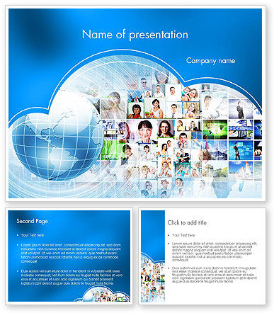 Social media marketing powerpoint template 11848