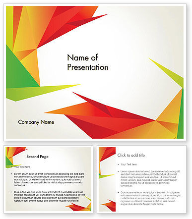 Origami free template for powerpoint and impress creative origami abstract triangles powerpoint template toneelgroepblik Gallery