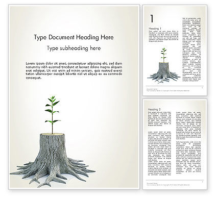 tree stump powerpoint template backgrounds 13389