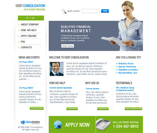 accounting company website template. Black Bedroom Furniture Sets. Home Design Ideas