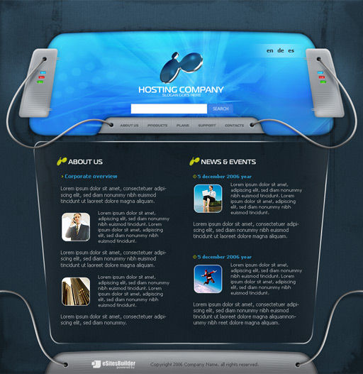 hosting provider company website template